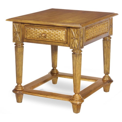 Craftmaster 340 Tropical One Drawer  End Table