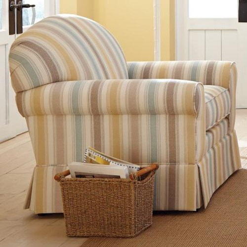 Craftmaster 9182 Casual Upholstered Chair with Arched Back and Skirt