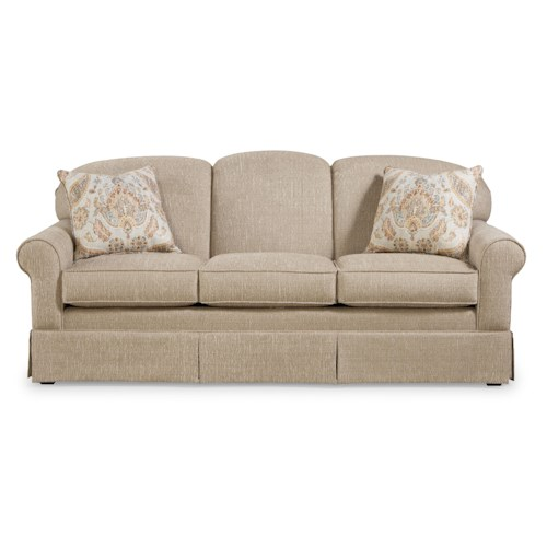 Craftmaster 918250 Casual Sofa with Tight Arched Back and Skirt