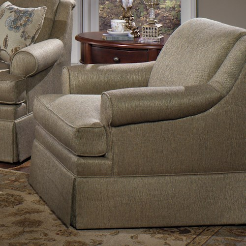 Craftmaster 920550 Traditional Upholstered Chair with Rolled Arms and Skirt