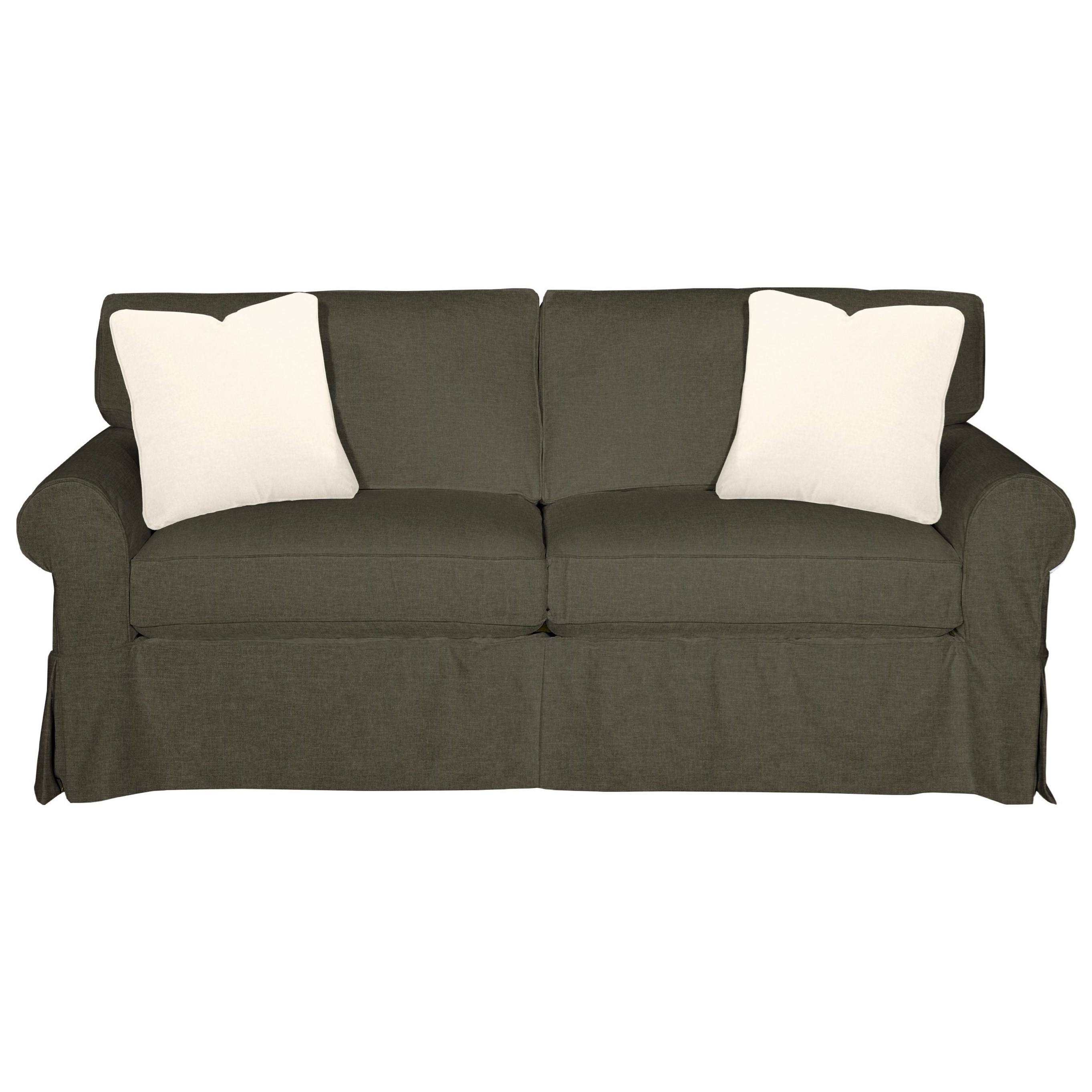 Cottage Style Slipcover Sleeper Sofa with Skirted Base and Innerspring Mattress