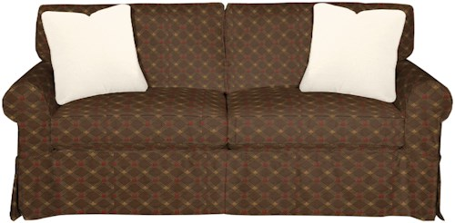 Craftmaster 9228 Cottage Style Slipcover Sleeper Sofa with Skirted Base and Innerspring Mattress