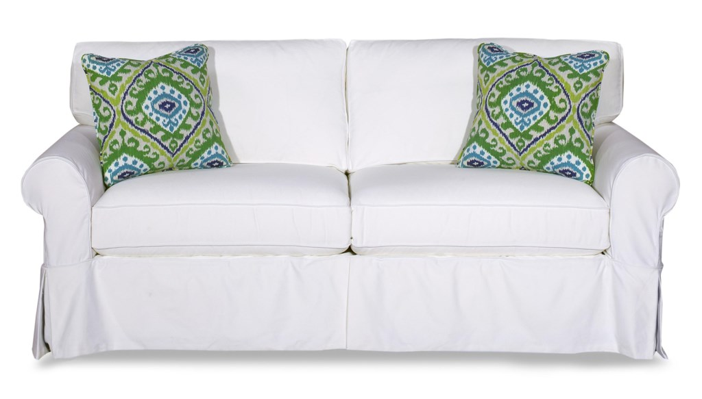 Craftmaster 9228 922850 98 Cottage Style Slipcover Sleeper Sofa With