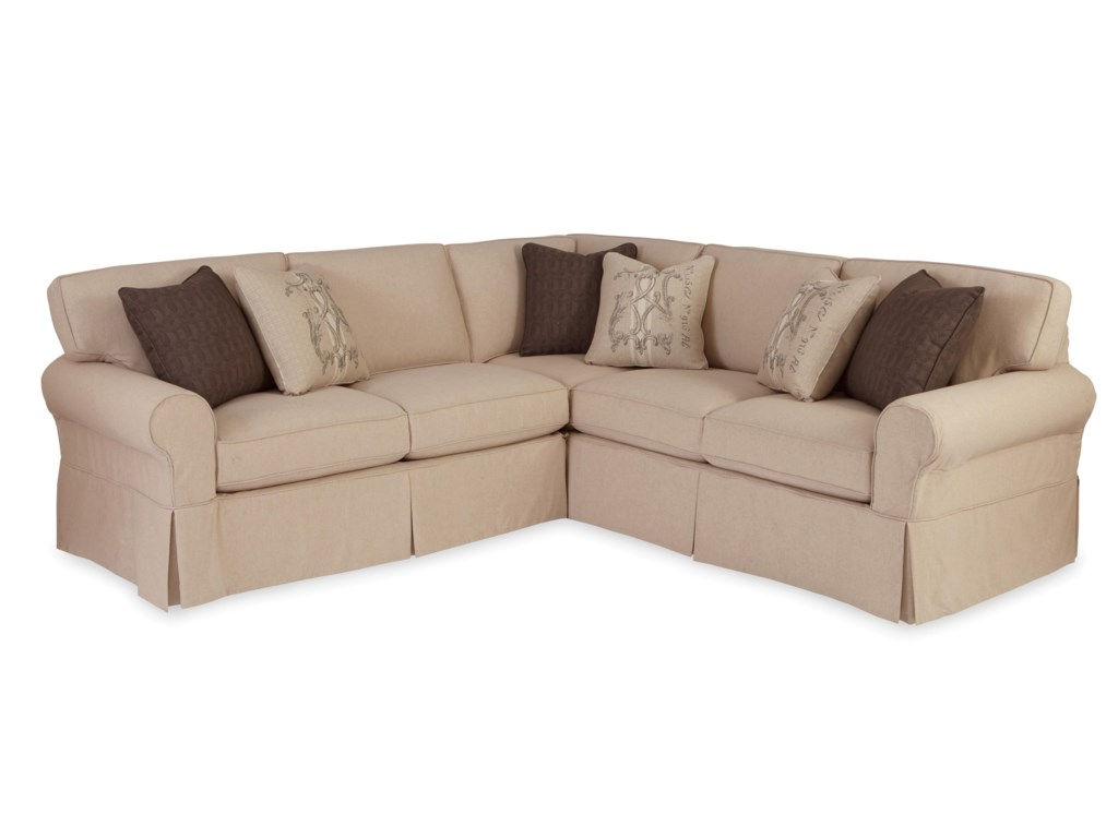 Craftmaster 92282 pc sectional sofa with raf return sofa