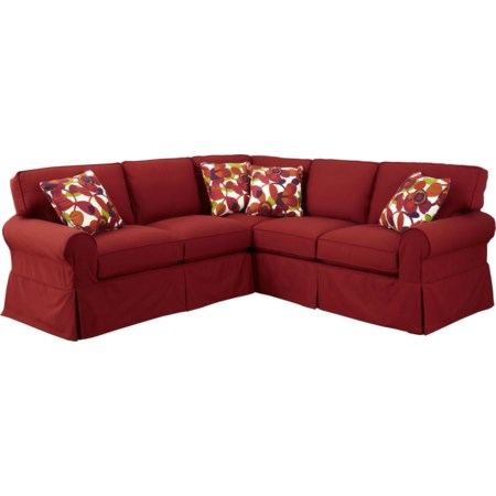 2 Pc Sectional Sofa with RAF Return Sofa