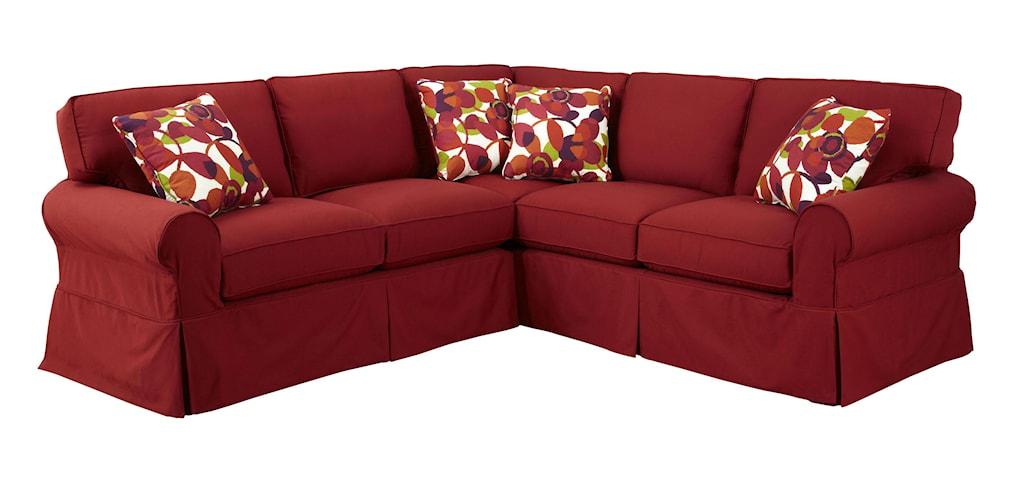 Craftmaster 92282 pc sectional sofa with raf return sofa