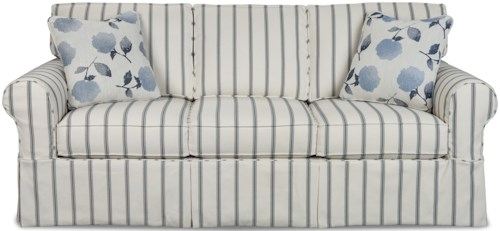 Craftmaster 9229 Casual Slipcover Sleeper Sofa with Queen Innerspring Mattress
