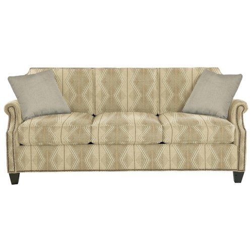 Cozy Life 938300 Transitional Sofa with Clipped Corner Shape and Nailhead Trim