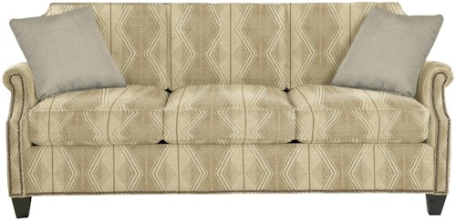 Craftmaster 9383 Transitional Sofa with Clipped Corner Shape and Nailhead Trim