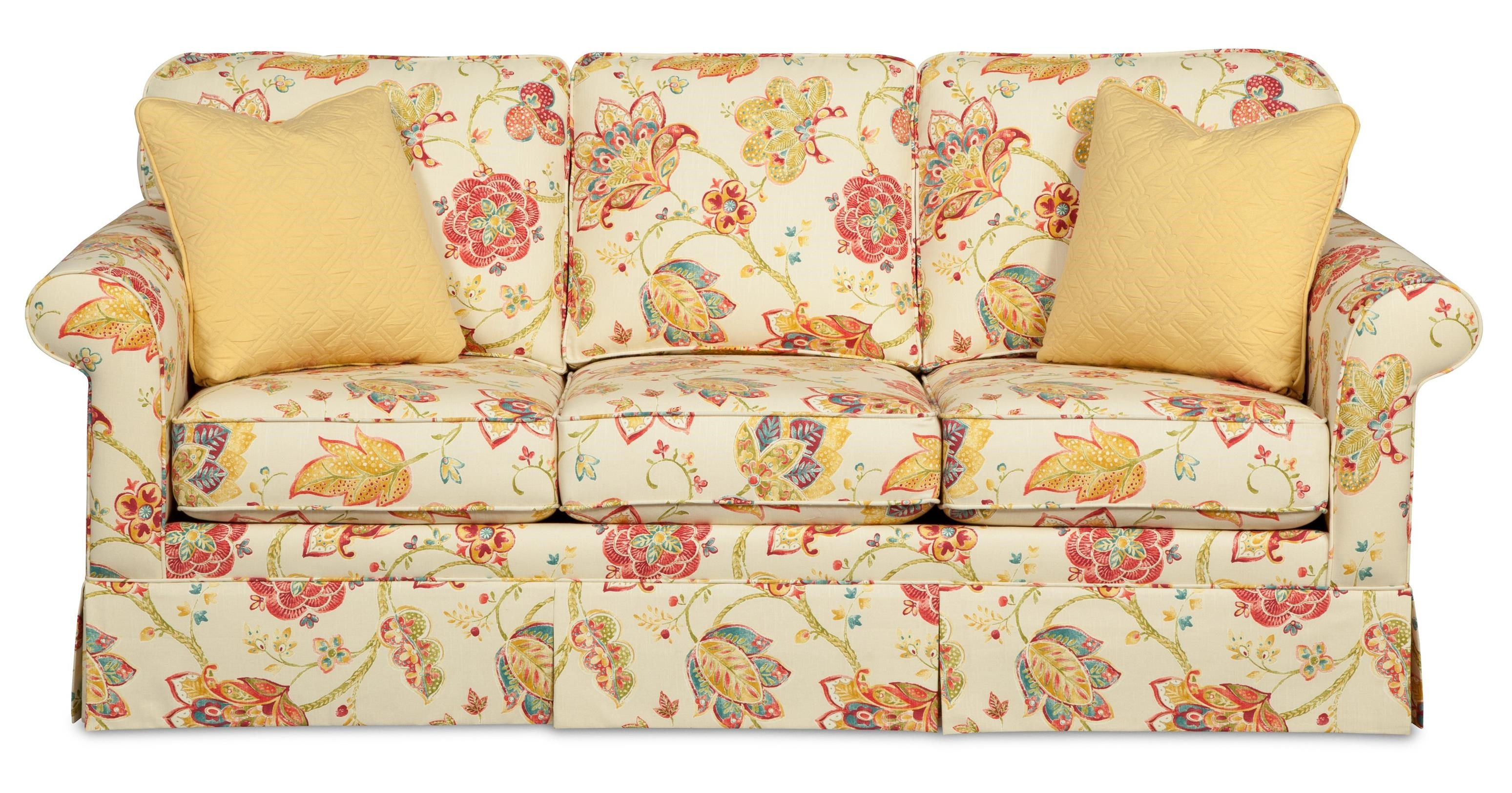 Charmant Craftmaster 9438 Traditional Sofa With Kick Pleat Skirt | Miskelly  Furniture | Sofas