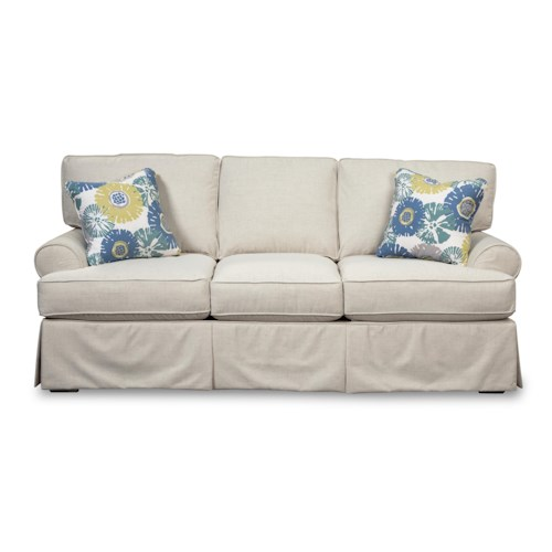 Cozy Life 9521 Skirted Sofa with Faux Slipcover Look