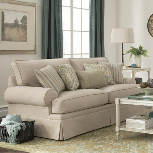 Cozy Life 9535 Skirted Stationary Sofa