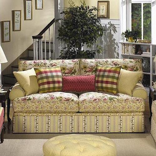 Cozy Life 9535 Skirted Stationary Sofa