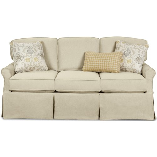 Craftmaster 971950 Slipcover Sofa with Rolled Arms