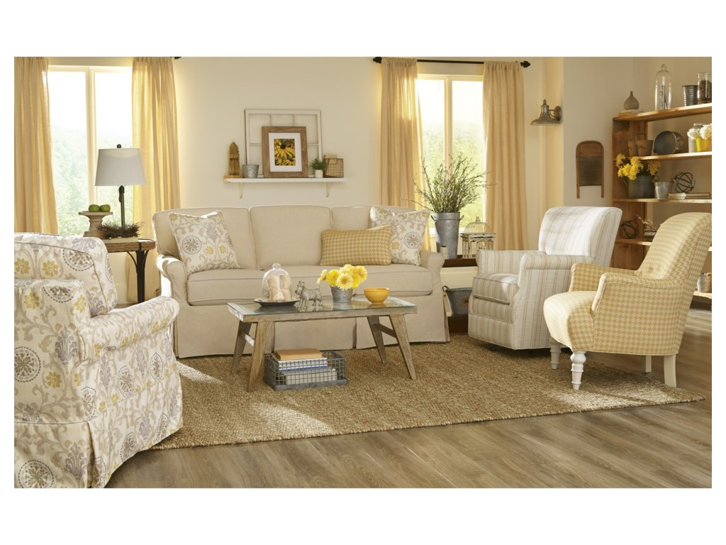 Craftmaster 971950Slipcover Sofa