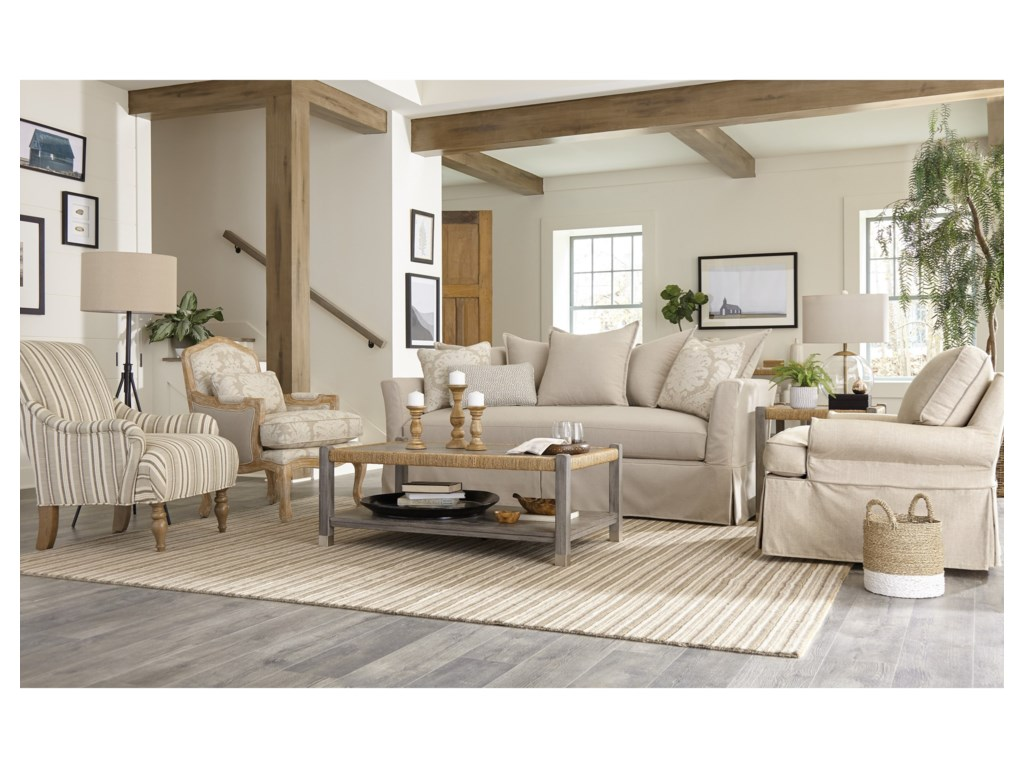 Craftmaster 998850BDBench Seat Sofa with Memory Foam Sleeper