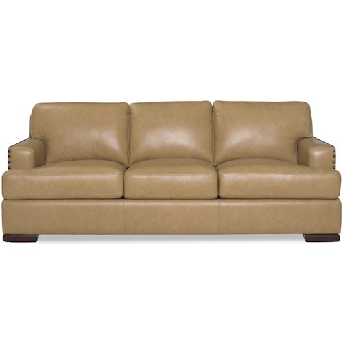 Craftmaster L127150 Contemporary Sofa with Nailhead-Studded Track Arms