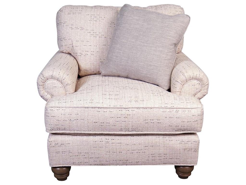 Craftmaster BellePaula Deen Belle Chair with accent pillow