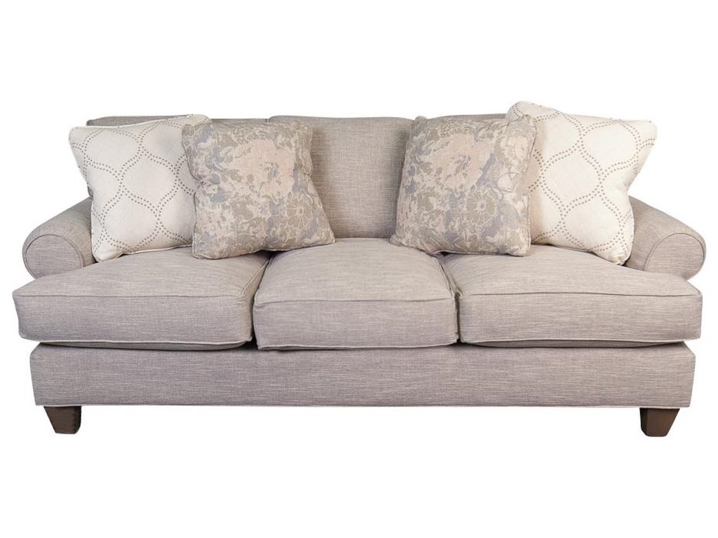 Belle Paula Deen Plush Sofa With Accent Pillows By Main Madison