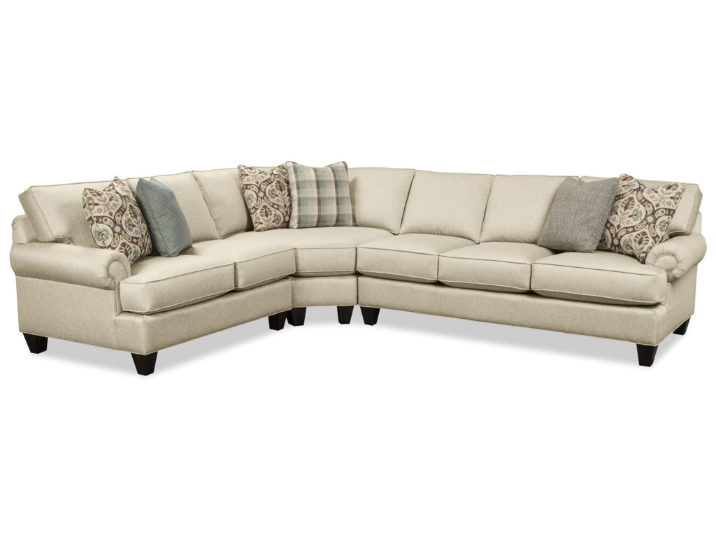 Craftmaster c9 custom collection3 pc sectional sofa