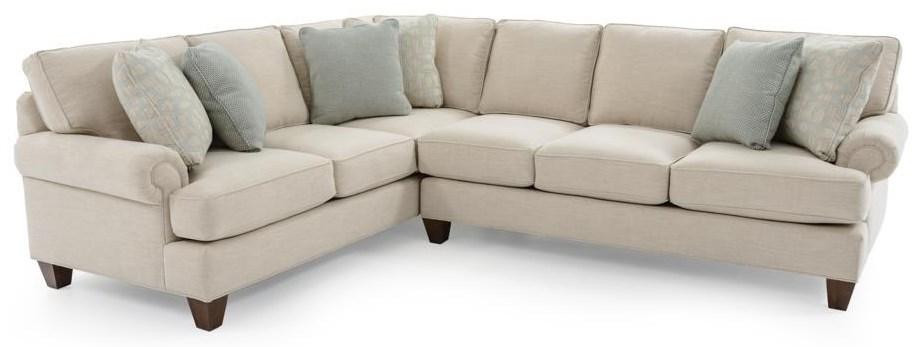 Craftmaster C9 Custom Collection2 Pc Custom Sectional Sofa ...
