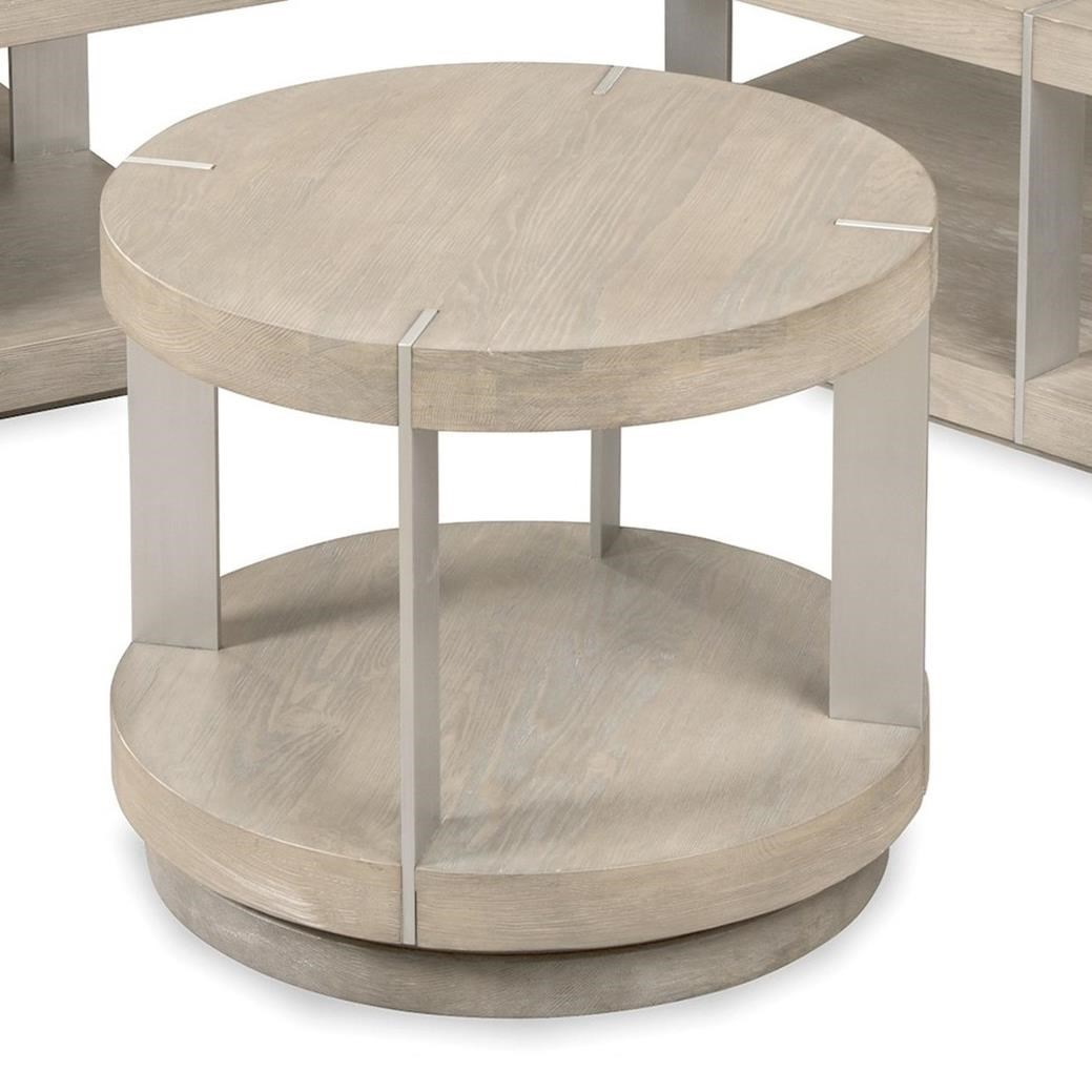 Picture of: Craftmaster Cm Modern Tables Se 850 Contemporary Round End Table With 1 Shelf Thornton Furniture End Tables