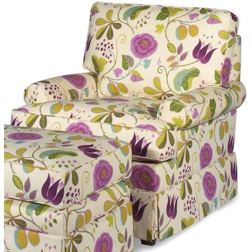 Craftmaster Accent Chairs Upholstered Chair with Skirt