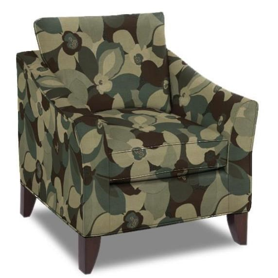 Hickorycraft Accent Chairs Contemporary Chair With Flair Tapered Arms