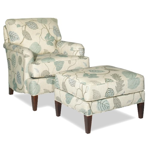 Cozy Life Accent Chairs Transitional Chair and Ottoman Set