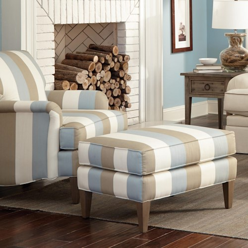 Craftmaster Accent Chairs Transitional Chair and Ottoman Set