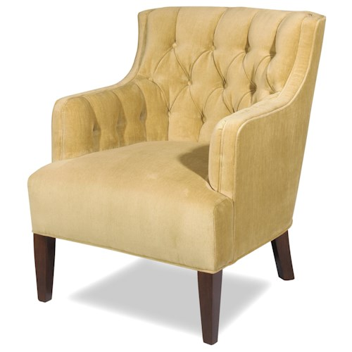 Cozy Life Accent Chairs Transitional Wing Chair with Button-Tufted Back