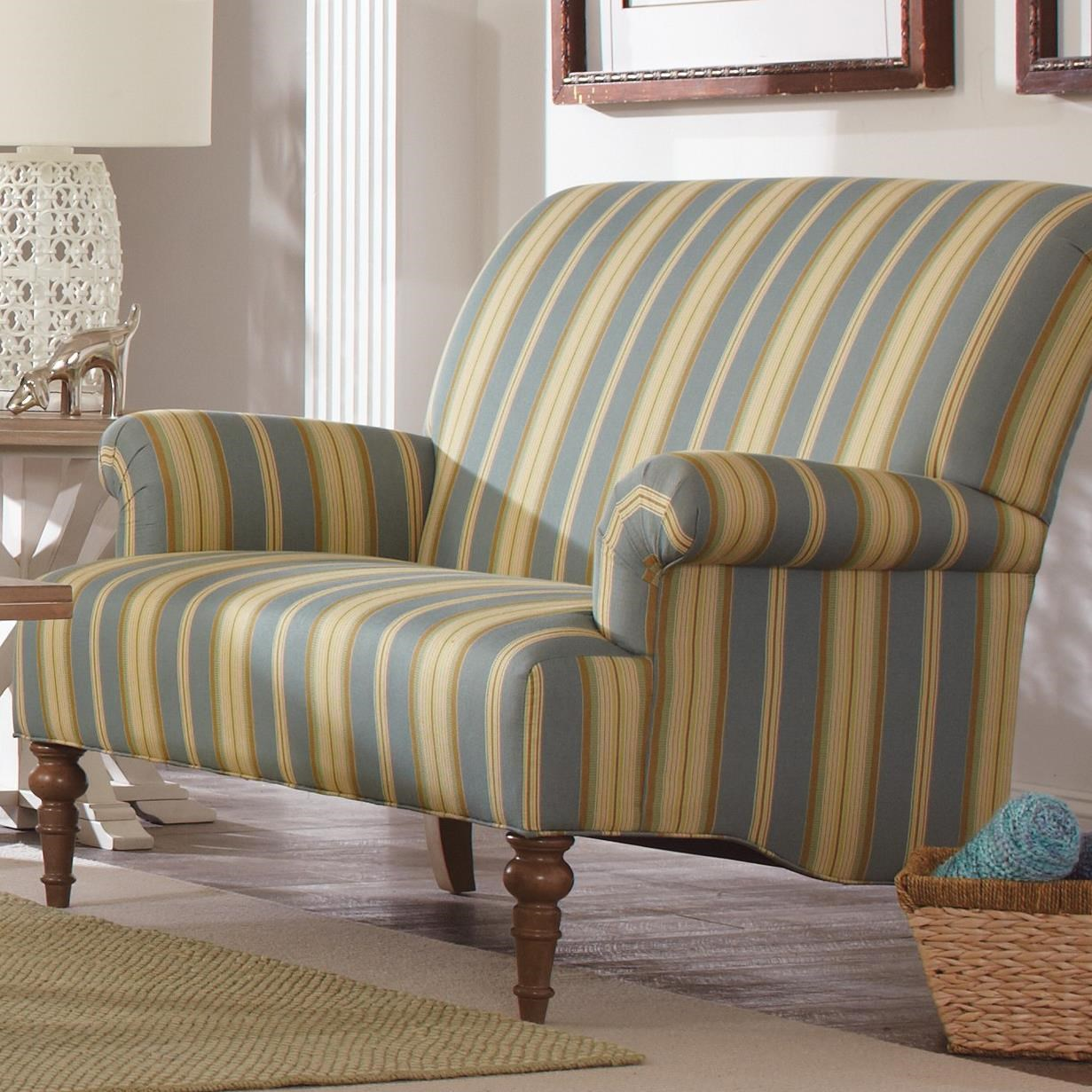 Craftmaster Accent Chairs Traditional Settee With Rolled