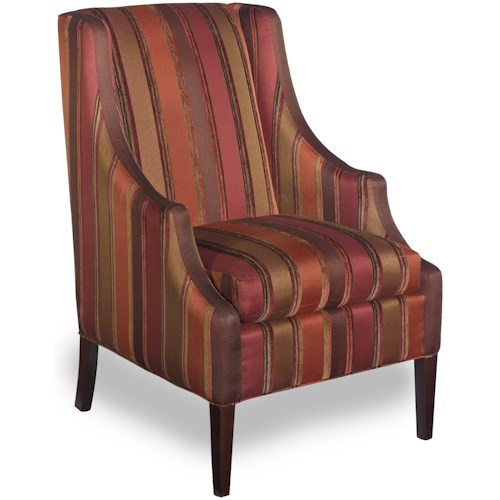 Craftmaster Accent Chairs Transitional Chair with Scalloped Arms