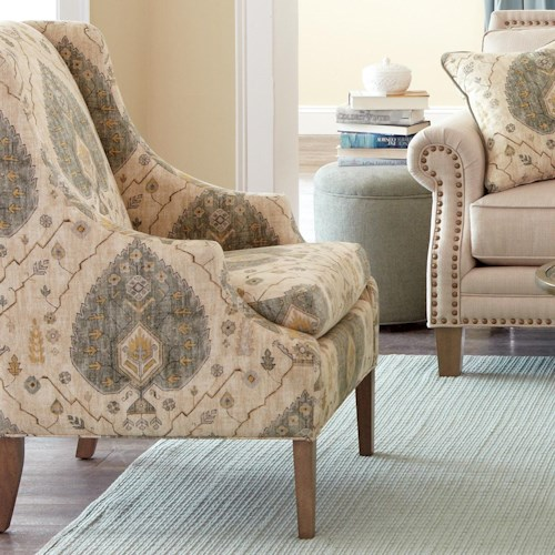 Cozy Life Accent Chairs Transitional Chair with Scalloped Arms