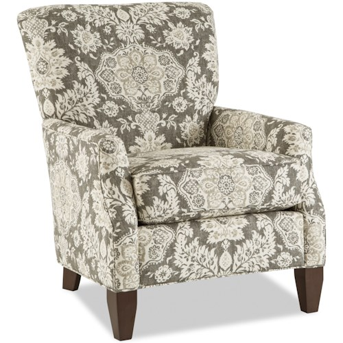 Craftmaster Accent Chairs Contemporary Chair with Flair Tapered Arms