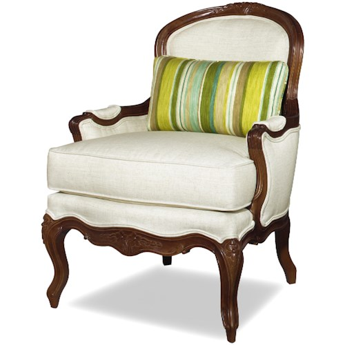 Craftmaster Accent Chairs Traditional Exposed Wood Accent Chair with ...