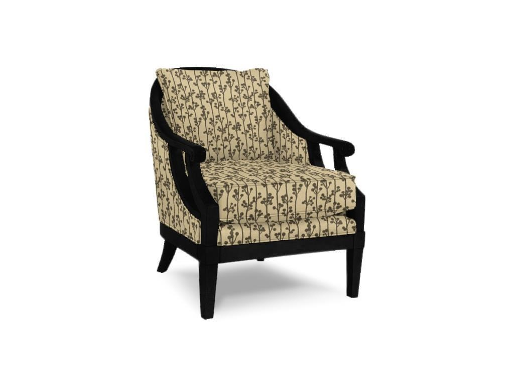 Craftmaster Accent Chairs Traditional Wood Framed Accent Chair With Scroll  Arms