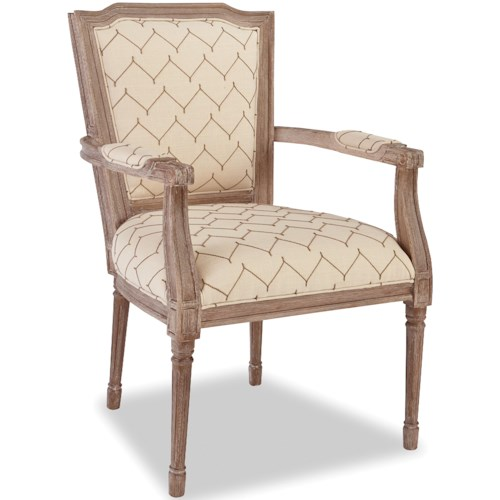 Craftmaster Accent Chairs Traditional Chair with Carved Wood Frame