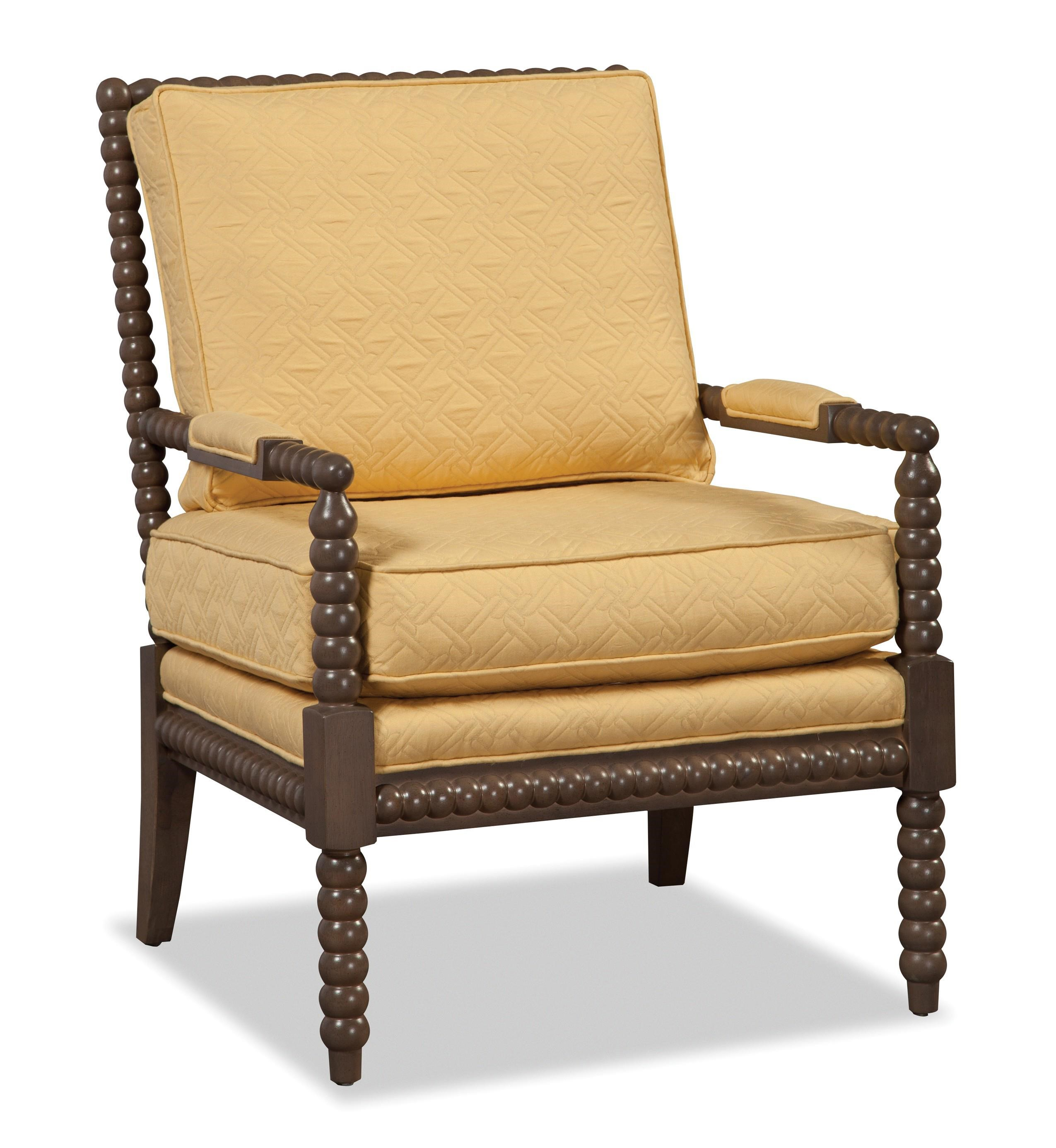 Hickory Craft Accent Chairs Traditional Chair With Spool