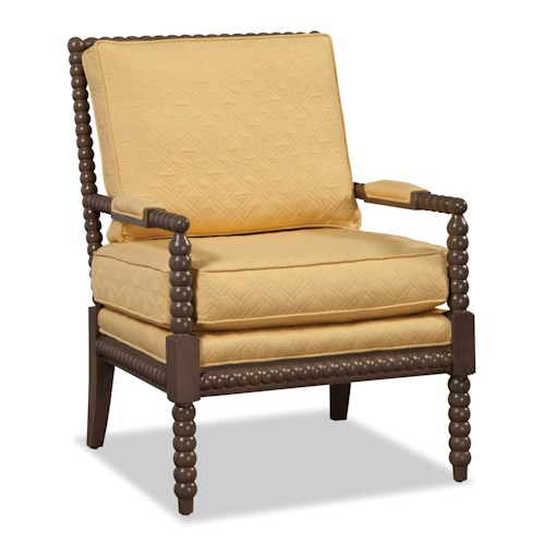 Craftmaster Accent Chairs Traditional Chair with Spool-Turned Wood Frame