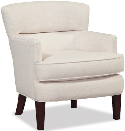 Craftmaster Accent Chairs Modern Split Back Accent Chair