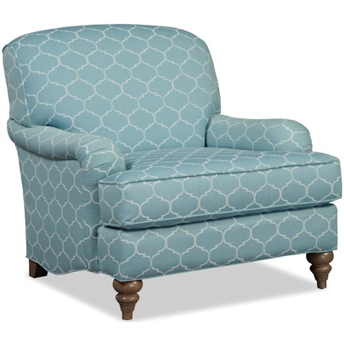 Craftmaster Accent Chairs English Arm Chair with Deep Seat