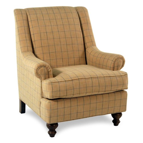 Cozy Life Accent Chairs Contessa  Traditional Chair w/ Rolled Panel Arms