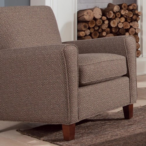 Craftmaster Accent Chairs Contemporary Accent Chair with Track Arms