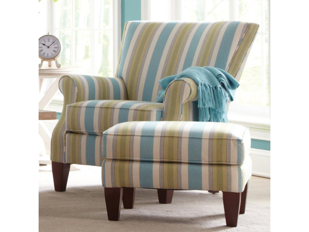 Craftmaster Accent ChairsChair and Ottoman Set