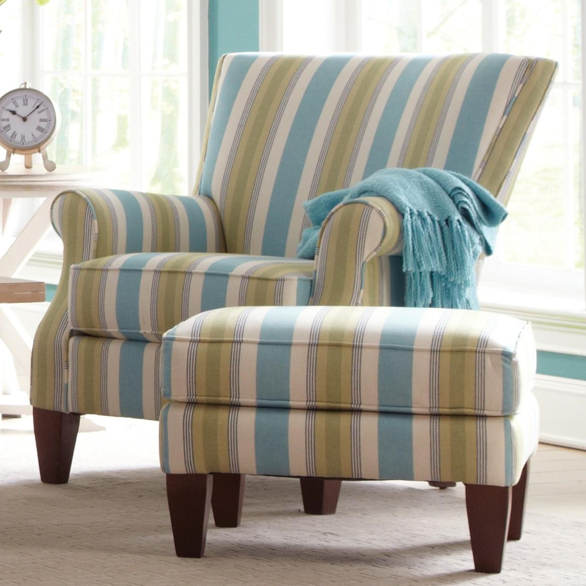 Craftmaster Accent Chairs Chair And Ottoman Set