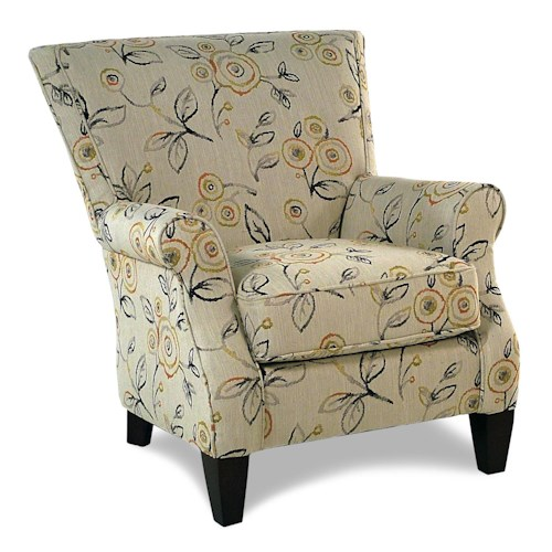 Cozy Life Accent Chairs Jarvis  Contemporary Upholstered Chair w/ Rolled Arms
