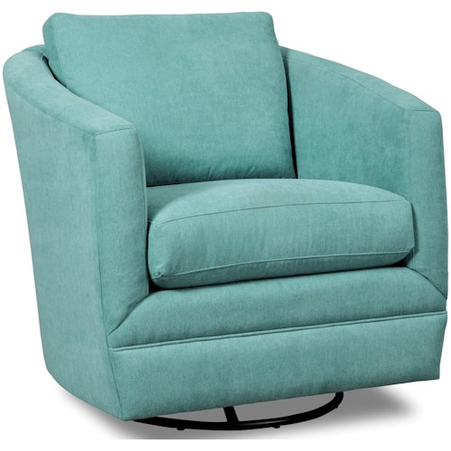Craftmaster Accent Chairs Swivel Barrel Chair