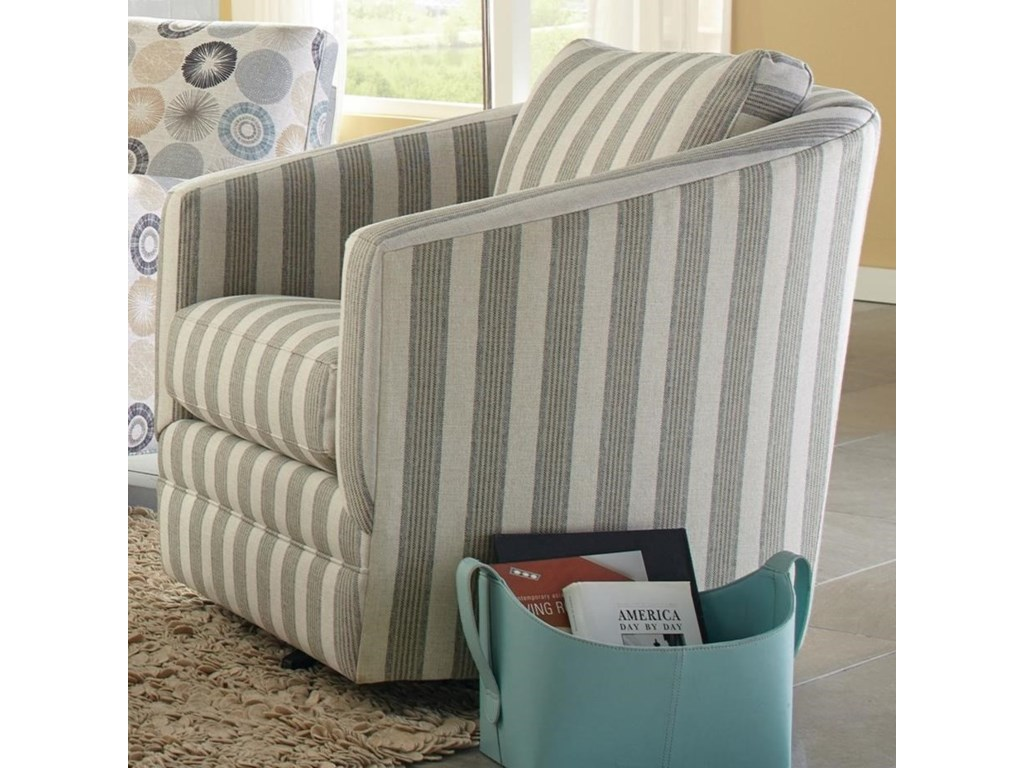 Accent Chairs Swivel Barrel Chair By Craftmaster At Becker Furniture World