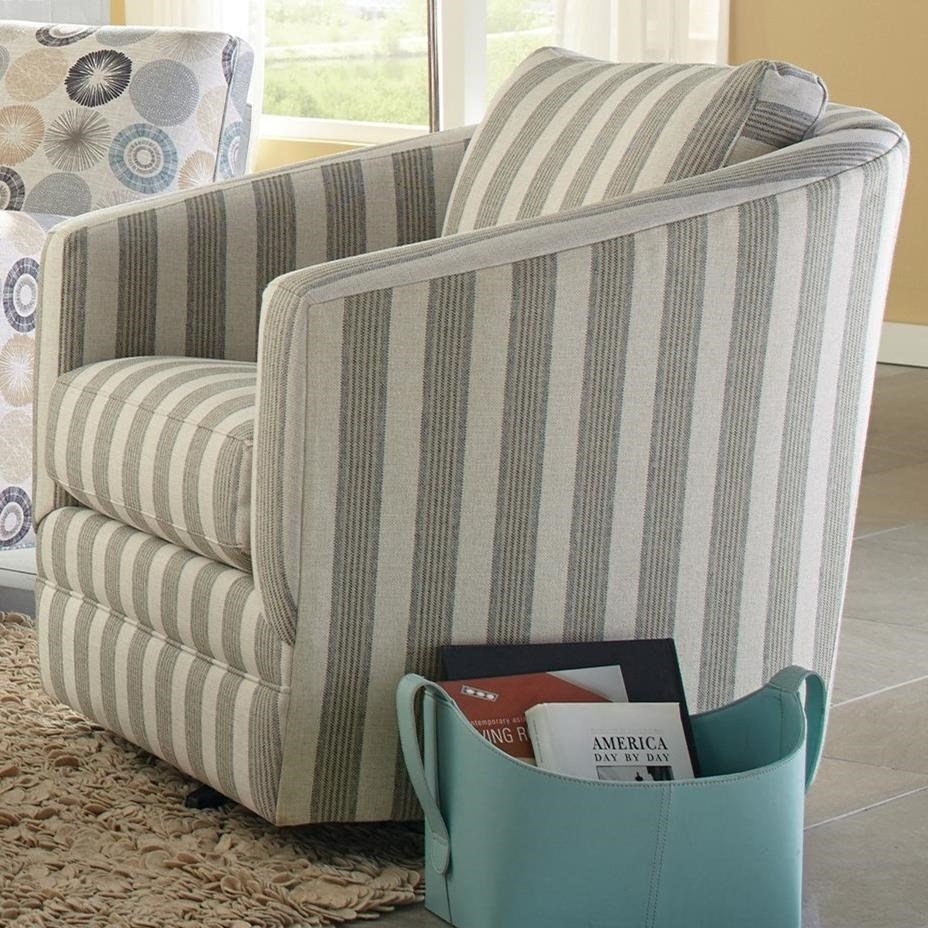 Accent Chairs Swivel Barrel Chair By Craftmaster